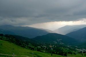 Letní bouřka nad Kornockem