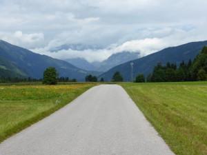 Silnice v údolí Dravy