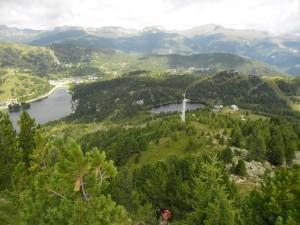 Turrachersee a Schwarzsee pohled ze Schoberrigelu 2208 m n.m