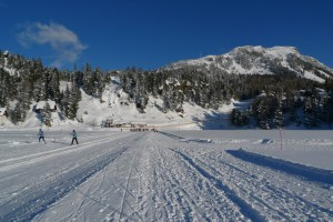 Zamrzlé jezero Turrachersee, v pozadí Schoberriegel  2208 m n.m.